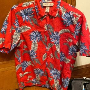 MENS H&M HAWAIIAN SHORT SLEEVE BOTTON DOWN